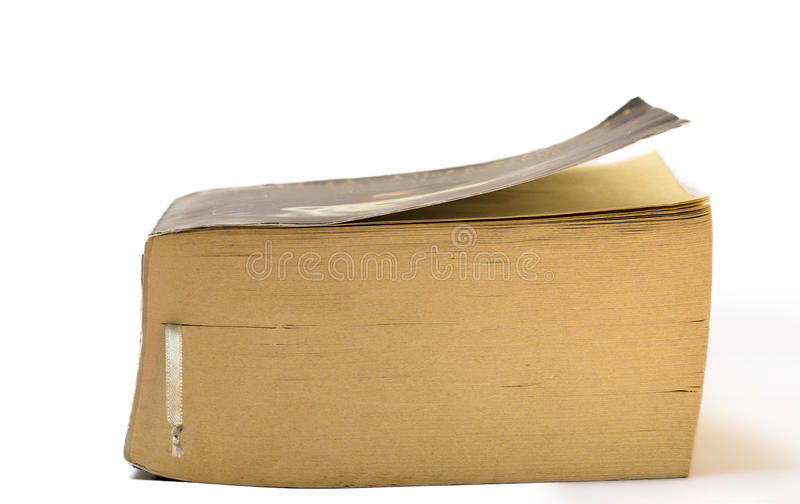 Old Closed Book With A Bookmark Stock Photos