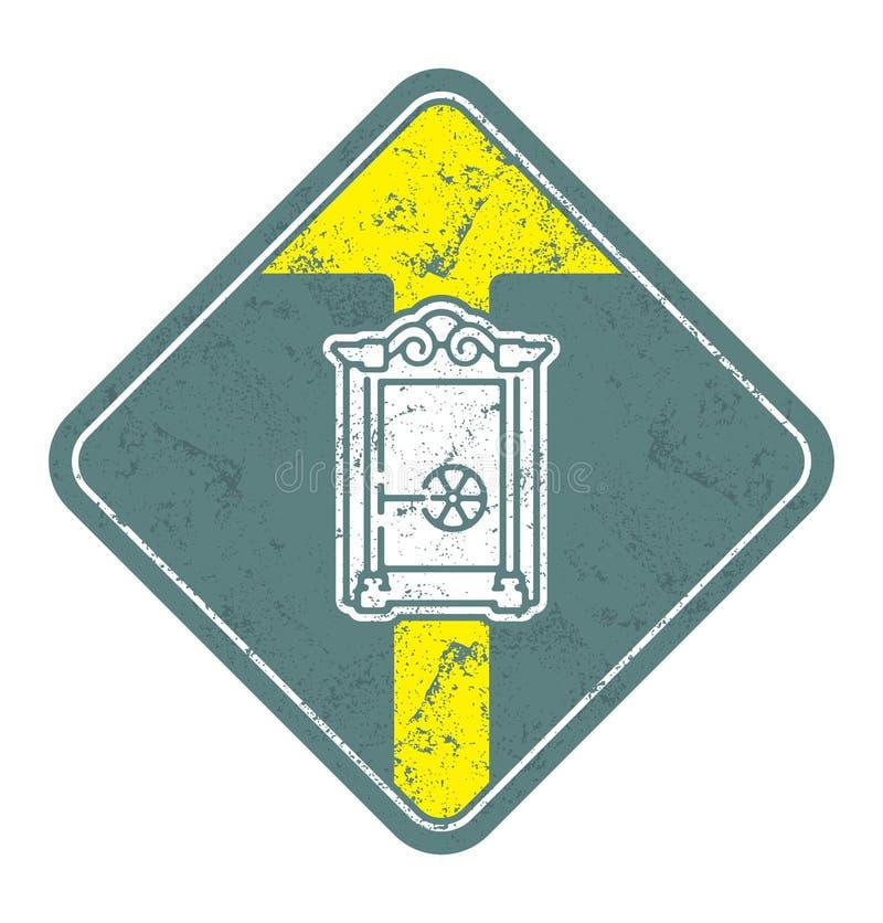Old Closed safe vector illustration. royalty free illustration