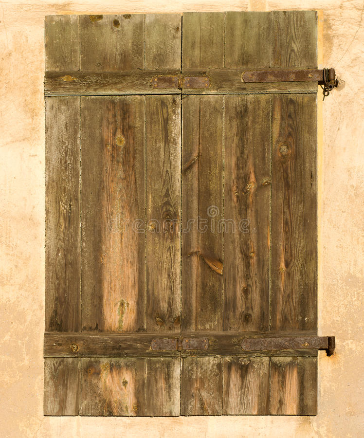 Old Closed Shutters Stock Photography
