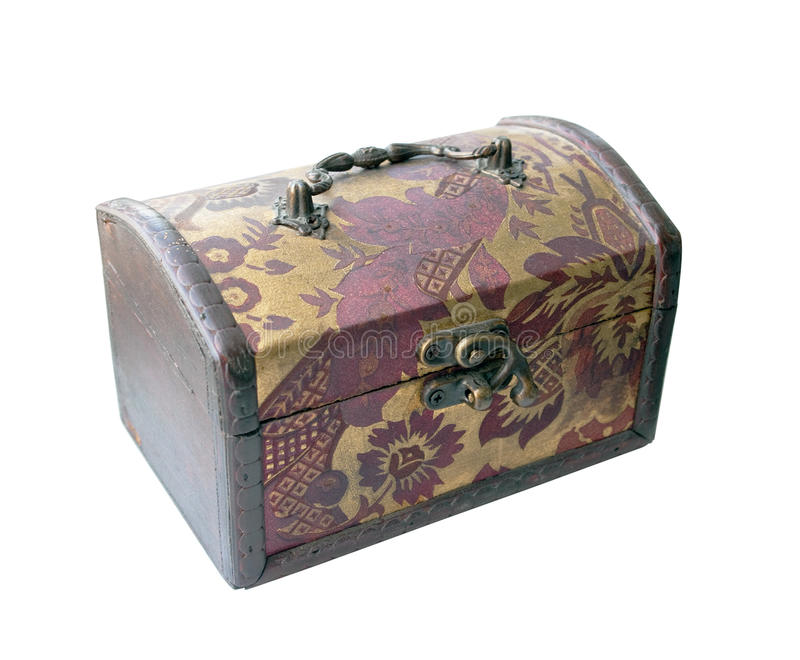 Old Closed Wooden Casket Stock Images