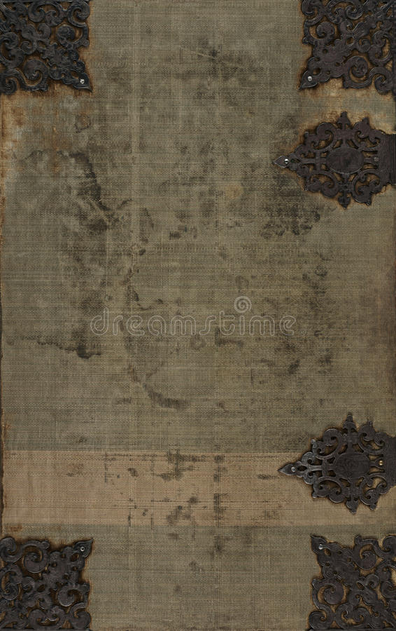 Download Old Cloth Book Cover With Metal Embellishments Stock Photo - Image: 11996374