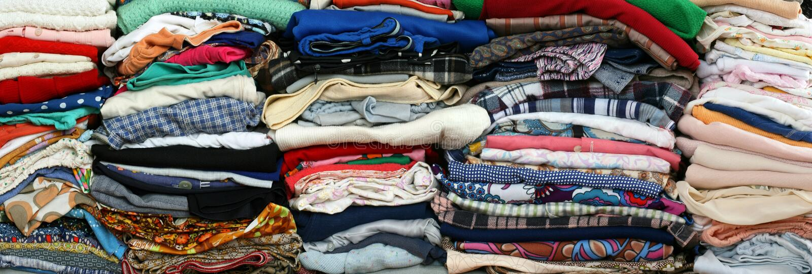 Old clothes royalty free stock photo