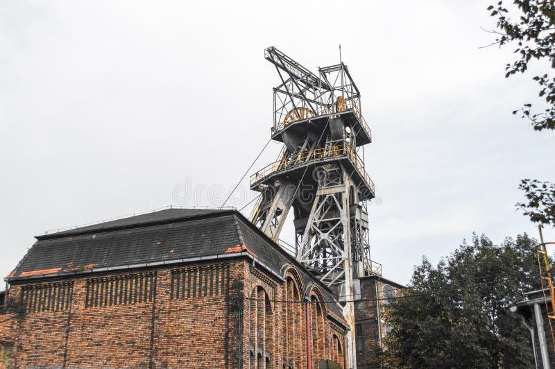 Old coal mine shaft stock image