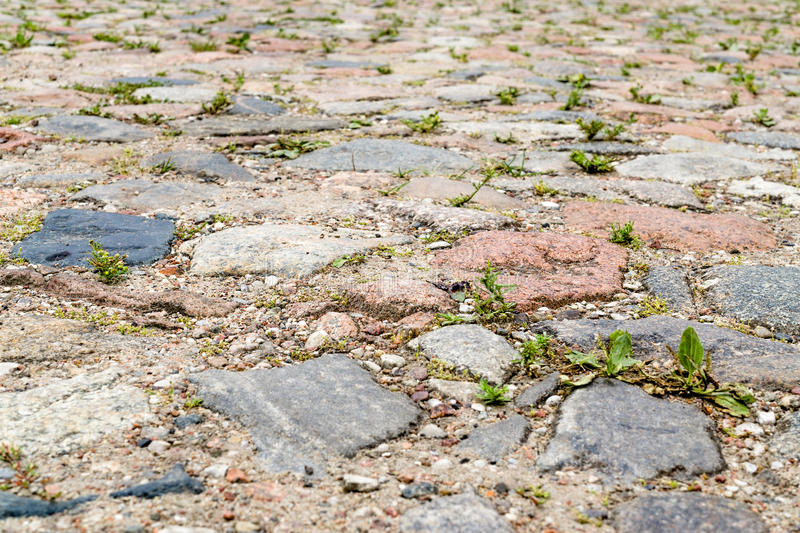 Old cobbled pavement royalty free stock images