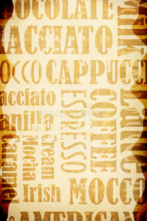 Old coffee background stock illustration
