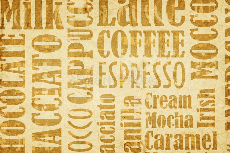Old coffee background vector illustration