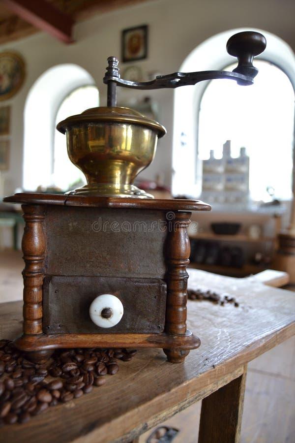 Old coffee grinder stock image