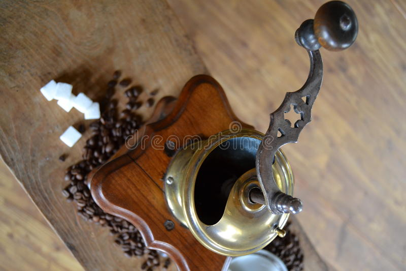Old coffee grinder royalty free stock photography