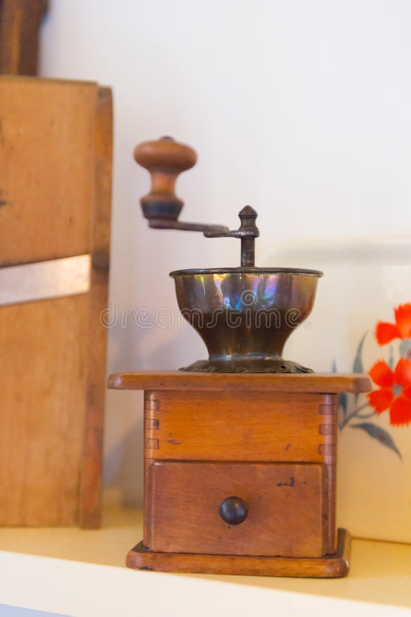 Free Old Coffee Grinder In Kitchen Stock Photos - 34813263
