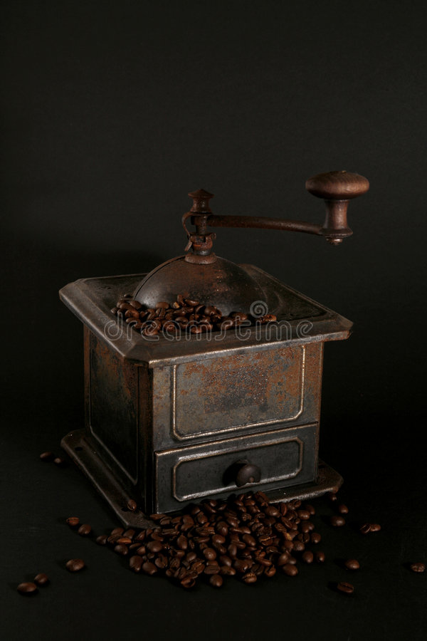Free Old Coffee Grinder On Black Royalty Free Stock Photo - 8553455