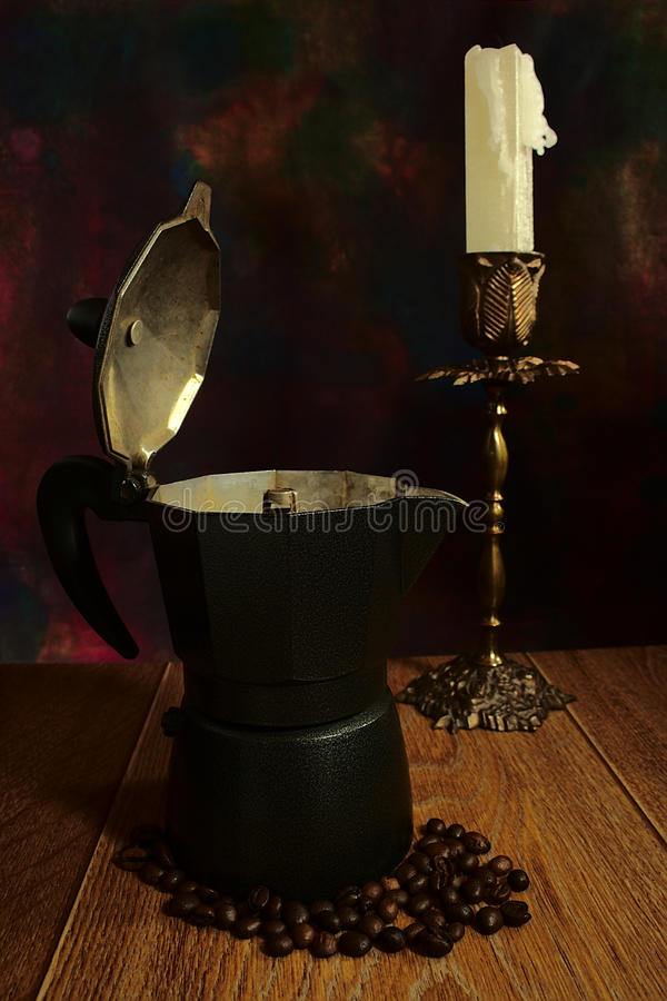 Old coffee maker stock photos