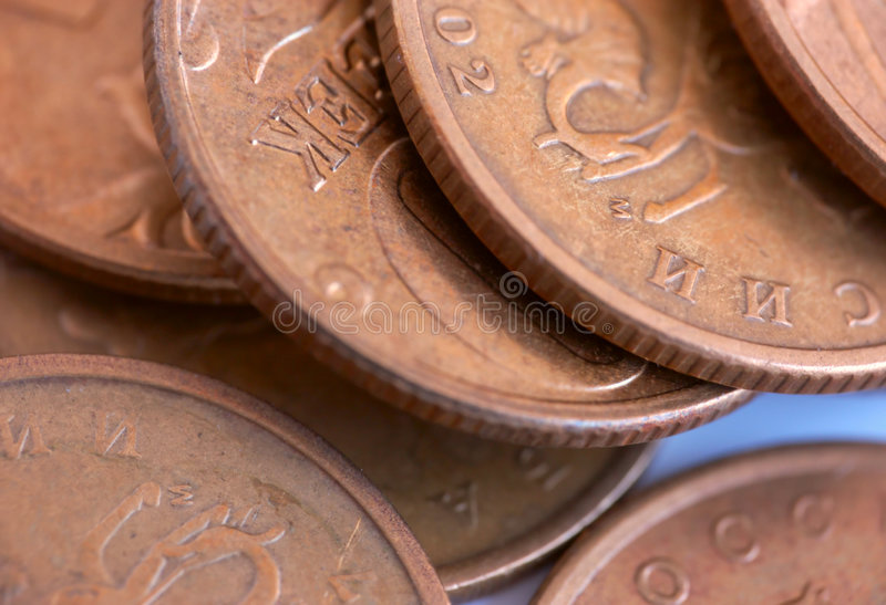 Old coins stock images