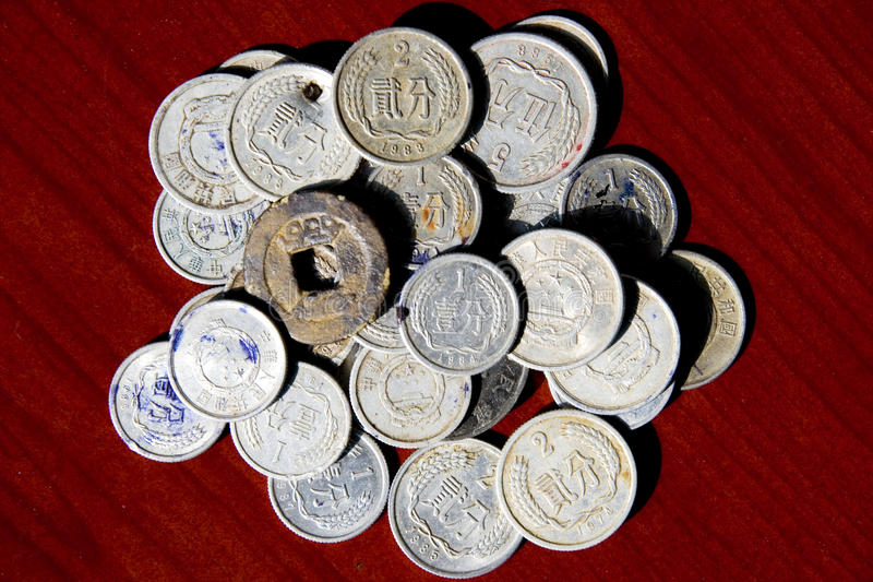 Old Coins In China Stock Photo