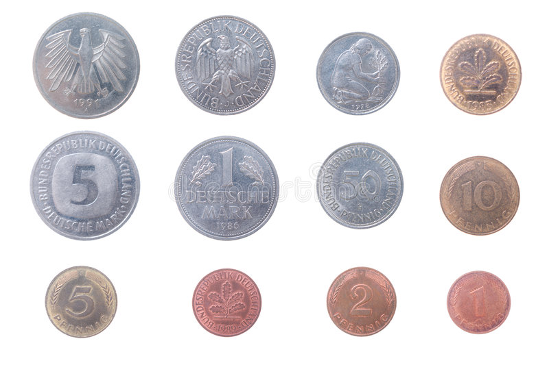 Download Old coins of the Germany stock image. Image of germany - 3812409