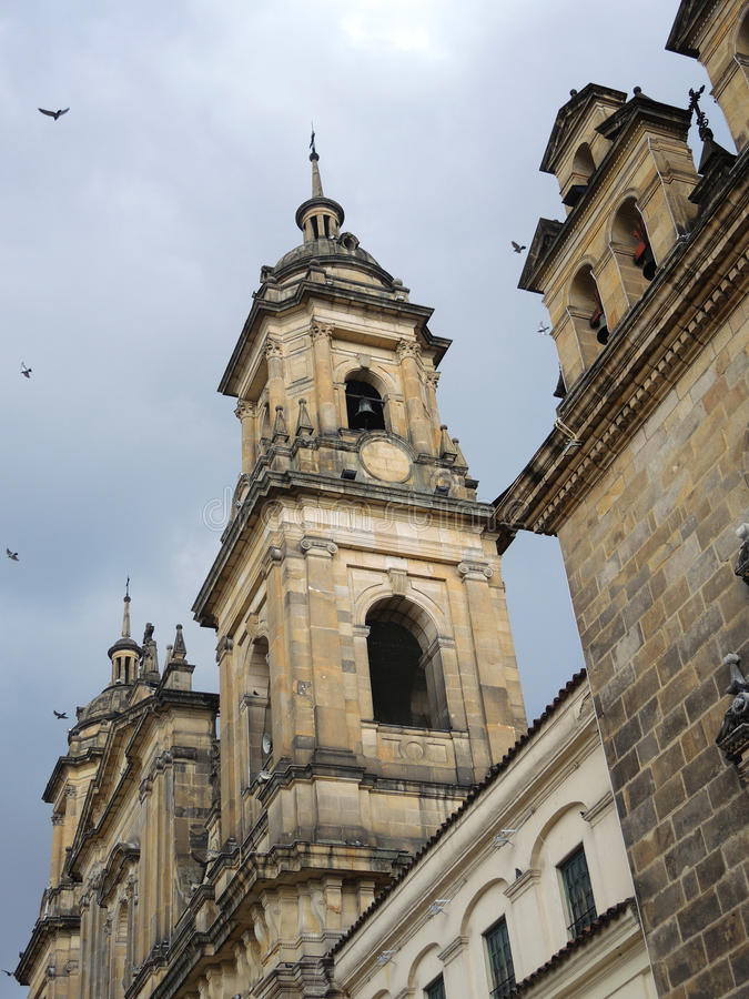 Old colonial cathedral in Bogota, Colombia. royalty free stock photo