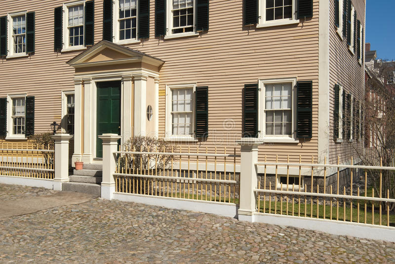 Old Colonial Home Front Entrance Stock Photos