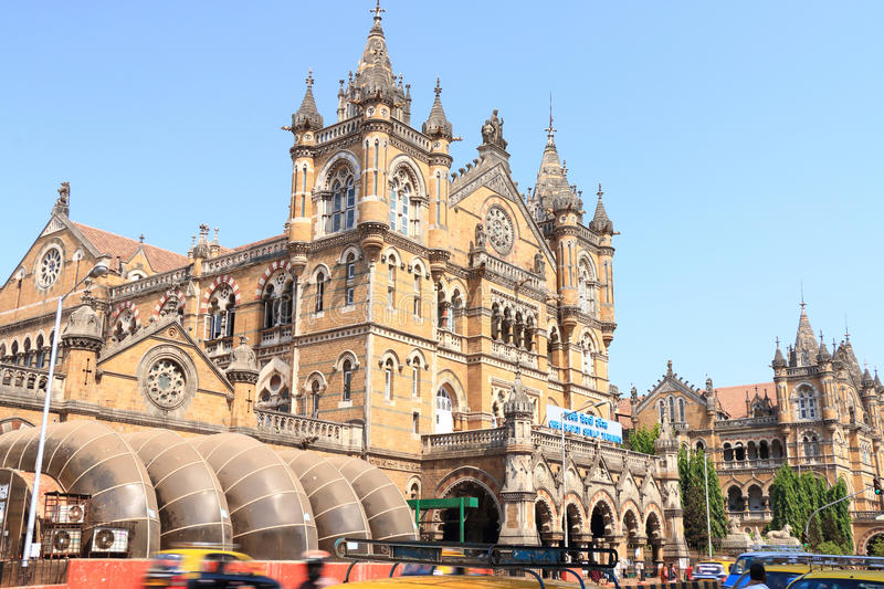 Old colonial style building mumbai in india stock photo
