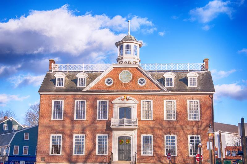 Old colony state house newport rhode island stock image