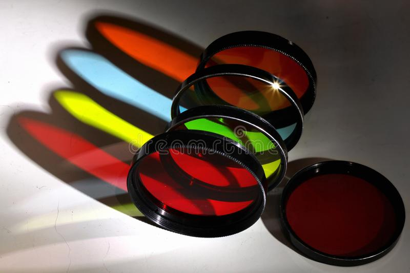 Old color photo filters. With colorful shadows royalty free stock photography