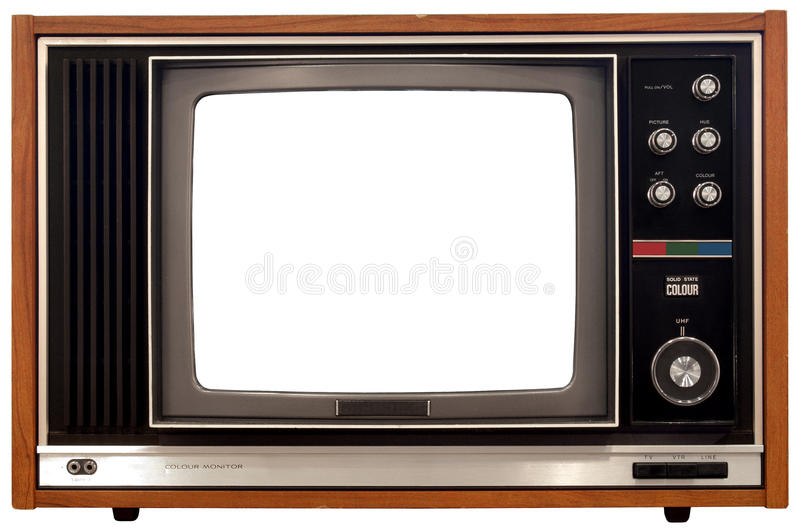 Old Color Television royalty free stock photography