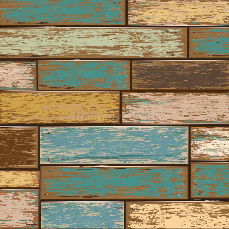 Old color wooden texture background. royalty free illustration