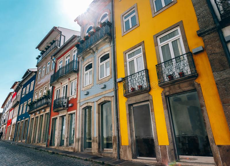 Colorful houses, travel concept. stock photography