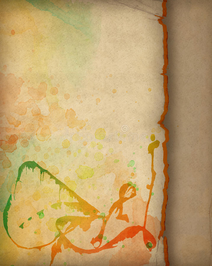 Free Old Colorful Watercolor Paper Royalty Free Stock Image - 17345876