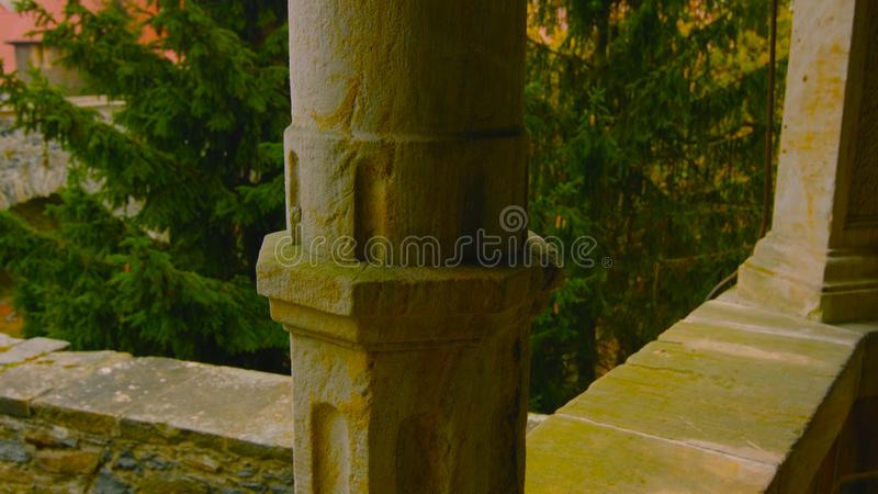 An old column inside the house stock photo