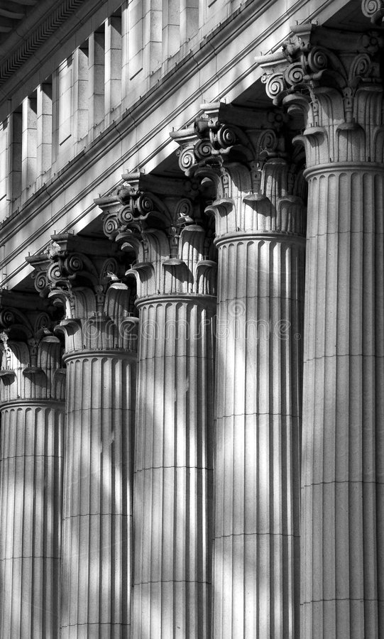 Old columns in montreal royalty free stock photos