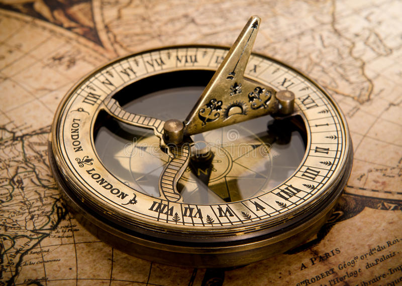 Old compass royalty free stock photos