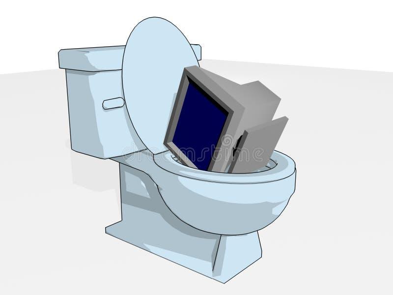 Old Computer royalty free illustration