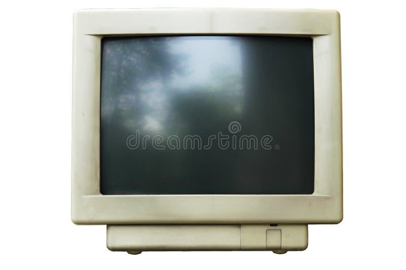 Old computer crt monitor stock photos