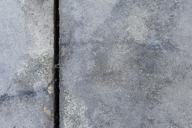 Old concrete floor. The old crack grey concrete floor background texture royalty free stock images