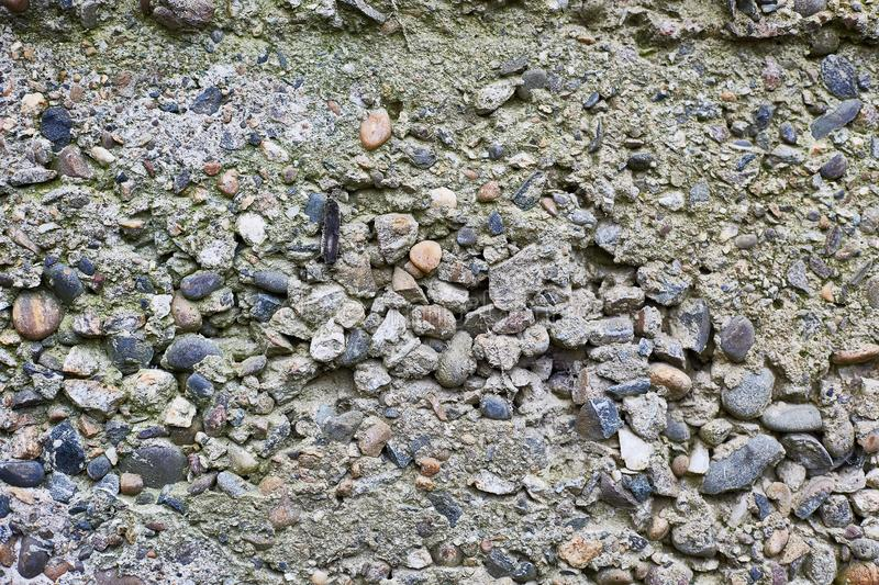 Old concrete from large stones. Stone wall horizontal background royalty free stock image
