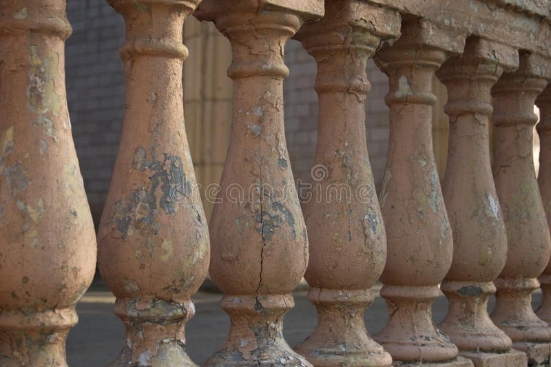 The old concrete railing royalty free stock photo