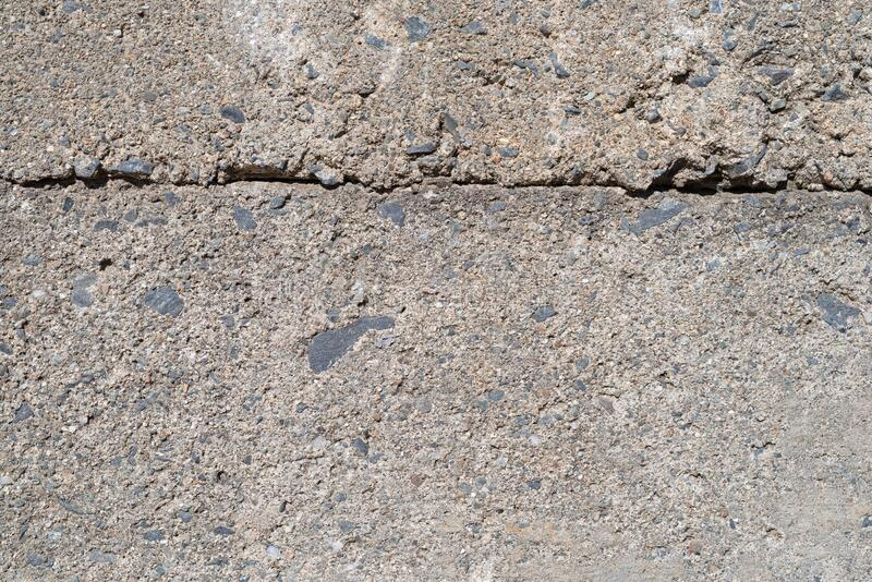 Old concrete supporting wall with joint royalty free stock photo