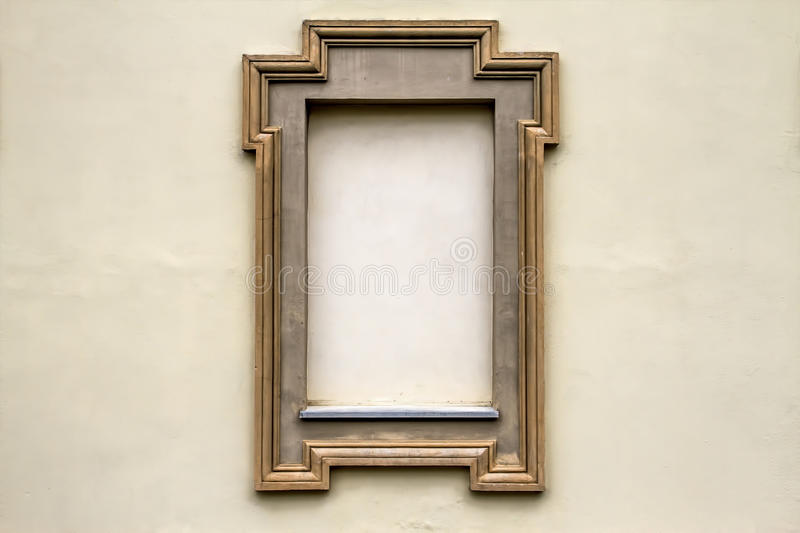 Old Concrete Wall With Empty Frames For Text Or Image Texture Background. royalty free stock photo