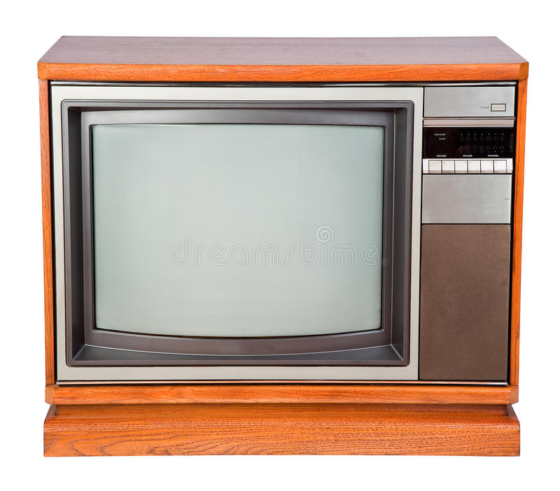 Download Old Console Television stock image. Image of isolated - 13513099