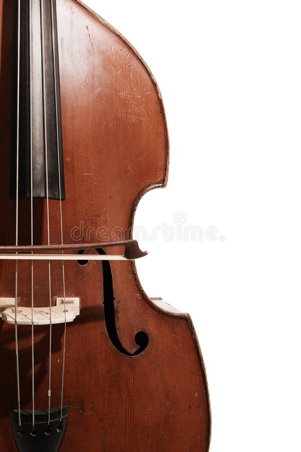 Old contrabass Double bass royalty free stock photo