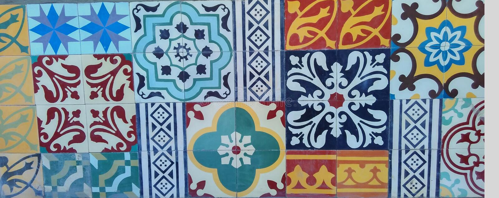 Old contrast ceramic pattern stock images
