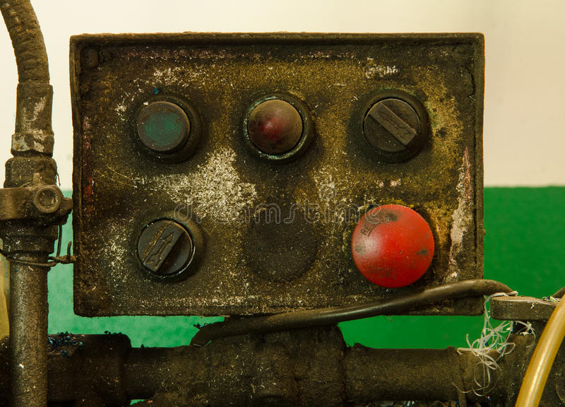 Old control Machinery royalty free stock image