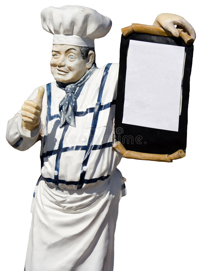 Old Cook Statue Stock Photography