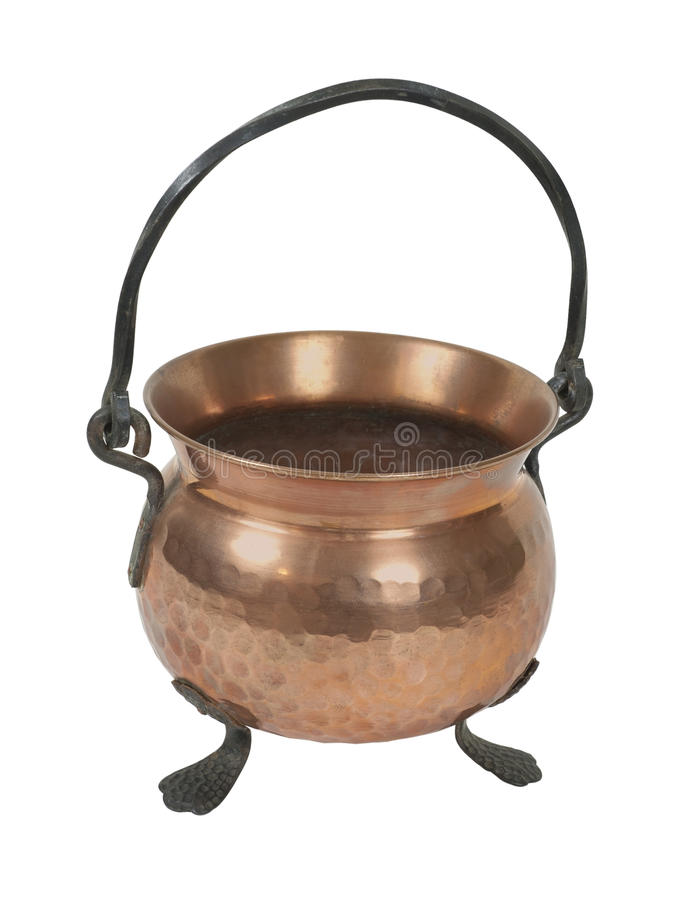Old Copper Pot For Cooking Royalty Free Stock Photo