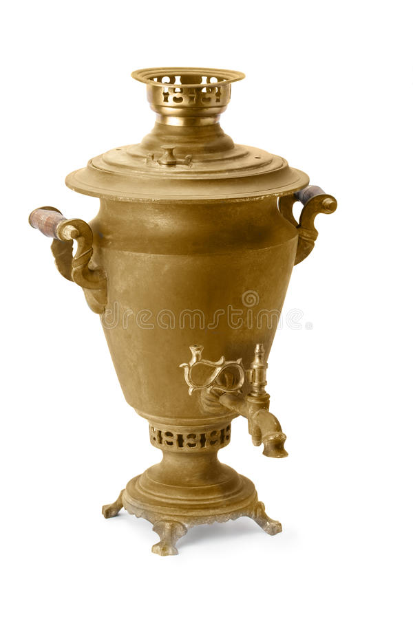 Old copper samovar royalty free stock photos