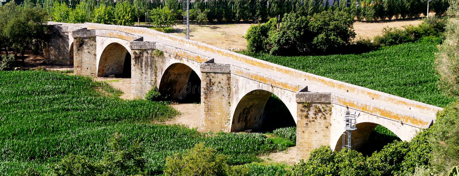 Old Coria Bridge, Extremadura. Spain. Europe stock images