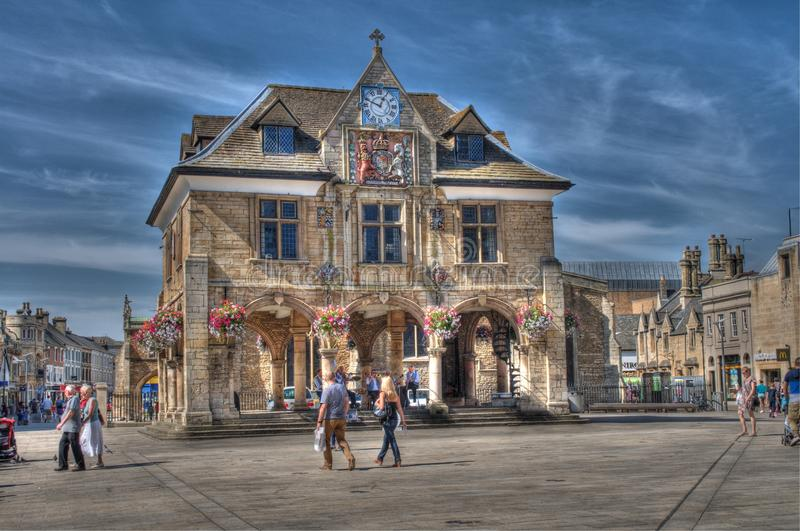The old corn exchange, Peterborough stock photo