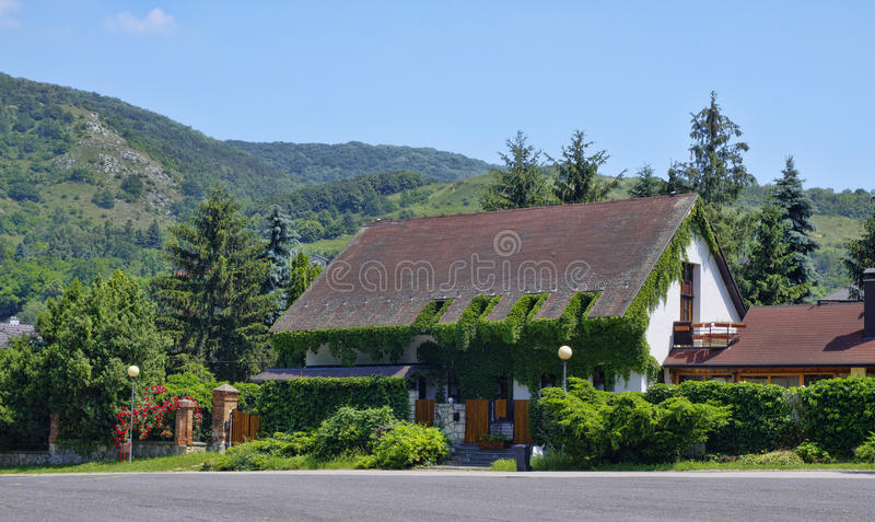The old cottage in Devin village, Bratislava, Slovakia stock photography