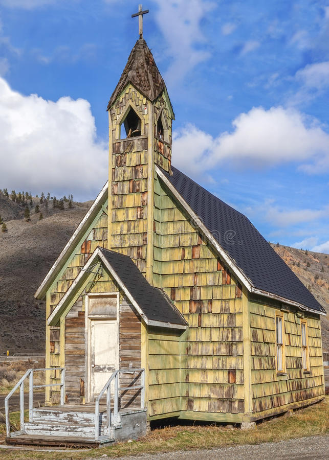 Old Country Church near Spences Bridge. Old neglected coutry church outside the small town of Spences Bridge in the interior of British Columbia royalty free stock photos