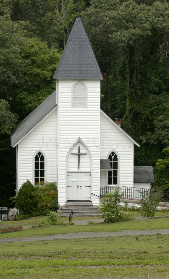 Old country church. Well maintained small country church stock photo