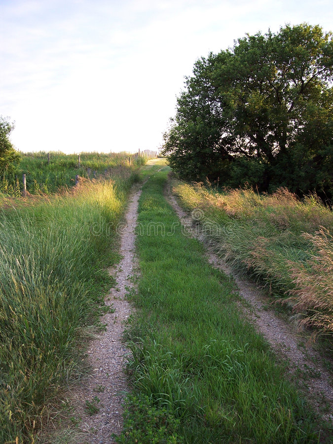Old Country Road stock photography